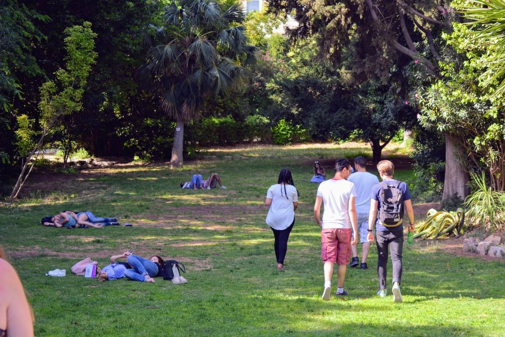 "The National Garden in central Athens is one of the public parks that can benefit from improved management through the ""Inagros Urban"" platform."