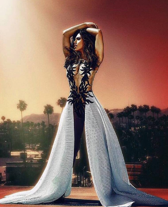 The beautiful @galienneNabila is looking Godly is this new editorial by  #StyledByEburns  in the most fantastic Jumpsuit ever made by Our Designer Rouba.G . Fashion Provided By  #IvanBittonStyleHouse