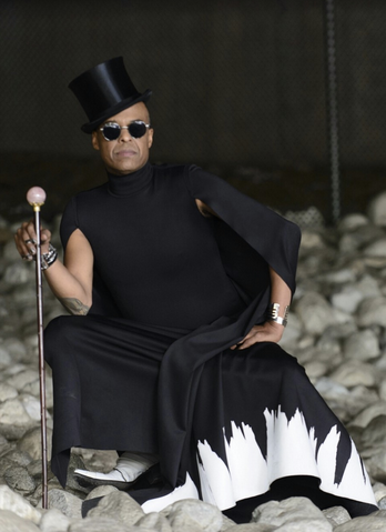 Music Royalty   Angelo Moore   from iconic Band   Fishbone   is reigning supreme in this Fantastic Fashion Editorial wearing a cape by OUR Turkish designer   NU   , a pair of shoes by   Simplicio Michael Luis Herrera   and a bracelet by Our French designers   Nous sommes des héros  . Styled by   Leisa Balfour     #TeamBitton  .   Fashion Provided By   #IvanBittonStyleHouse