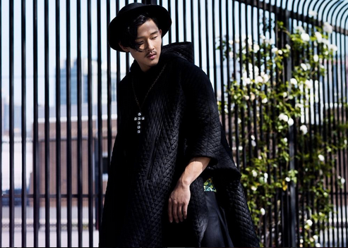 America's Next Top Model 's star  Justin Kim  is bringing Awesomeness to this fashion editorial for  ELEGANT Magazine  with this amazing coat by our designer  Sandor Lakatos . styled by  Drelyn Scott   Fashion Provided By  #IvanBittonStyleHouse