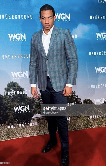 Emmys / Television Academy  Winner  Alano Miller  from  Jane The Virgin  and star of the upcoming  WGN TV  s Hit TV show  Underground  is looking dapper in a pair of our Swiss shoe designer  RUBIROSA  at the Hollywood premiere of the show.  Styled By  Gabriel Langenbrunner