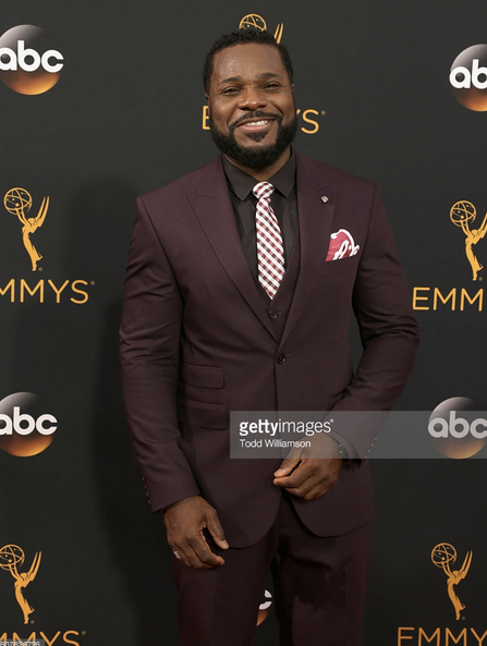 Emmys / Television Academy  Awards ALERT!! American TV royalty  Malcolm-Jamal Warner  (  The Cosby Show  ) is looking super sharp in a Shirt by our Californian Designer  Barabas Men  and a ring by our French artists  Nous sommes des héros . Styled By  Francesca Roth . Fashion Provided By  #IvanBittonStyleHouse