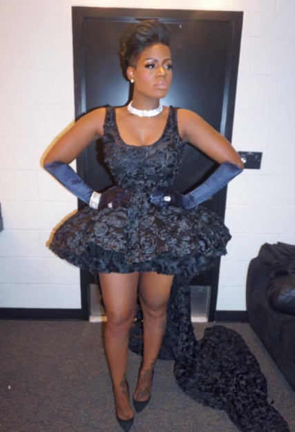 Behind the scenes with American Superstar  Fantasia  as she is about to hit the stage and perform for Our president  Barack Obama  and our first Lady Michelle Obama  wearing a dress from our designer from the Barbados Shanna Gall . Styled By  Daniel Hawkins  Fashion Provided By  #IvanBittonStyleHouse