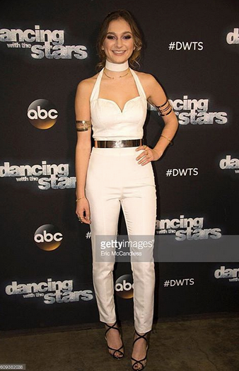 American singing sensation  Daya  ( 'Don't let me down') knows how to buckle in this beautiful belt by our designer  #MarieWestwood  on her way to perform LIVE at  Dancing with the Stars  on  ABC Television Network . Styled By  Jesse J Collections . Fashion Provided By  #IvanBittonStyleHouse