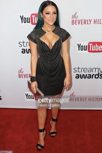 The Youtube Phenomenon @Niki demar is looking amazing in a jewelry top by Designer  NÜ Denmark West Hollywood . Styled by  #lmc  . Fashion Provided By  #IvanBittonStyleHouse