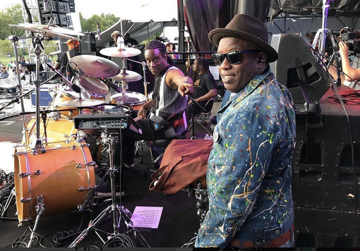 The GRAMMYs  Winner American band  Living Colour  performing live in our designer from turkey  NU  and our American designer  Barabas Men . Styled by  #TeamBitton   Leisa Balfour .  Fashion Provided By  #IvanBittonStyleHouse