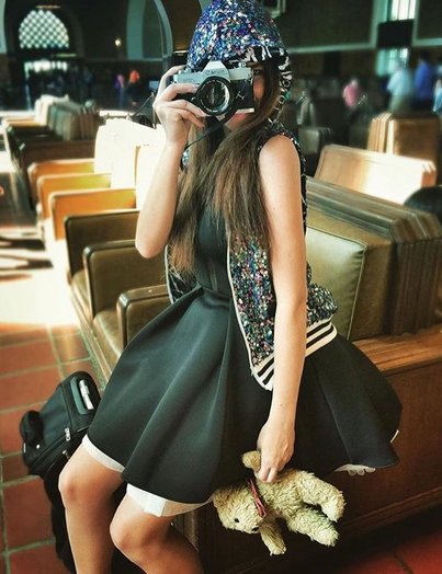 Behind the scenes at the Iconic Los Angeles Train station Fashion editorial featuring our German designer  Marcell von Berlin  dress and a hoodie by our Project Runway American designer  Kelly Dempsey .  Fashion Provided By  #IvanBittonStyleHouse