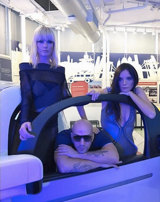 Behind the Scenes in Sillicon Valley with Russian supermodels and stars of upcoming Tv show  #ModelMom   Eugenia Kuzmina  and  Kira Dikhtyar Official  Featuring a beautiful dress by our British designer  Clon8  and American designer  Dan Richters  and Italian designer eyewear  Glassing  On the First Self driving car from  Google . Styled By  #TeamBitton   Styledbyhoracio   Fashion Provided By  #IvanBittonStyleHouse