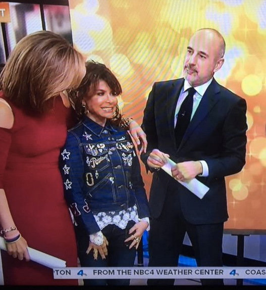 BREAKING NEWS : American superstar  Paula Abdul  visiting the  Today Show  with  Matt Lauer  while wearing jewerly by our Italian designer  MIA's . styled by  Icon Billingsley .  Fashion Provided By  #IvanBittonStyleHouse