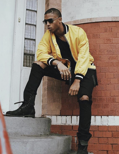 Behind the scenes with  BET  star  Keith Powers  from upcoming show  New Edition BET  featuring jewelry from our Lebanese designer  Roula Dfouni , sunglasses from our Italian designer  Glassing , a shirt by our Brazilian designer @cavallodeferro.  Styled By @jamar hart assisted by  #TeamBitton   LaRay Slay .  Fashion Provided By  #IvanBittonStyleHouse