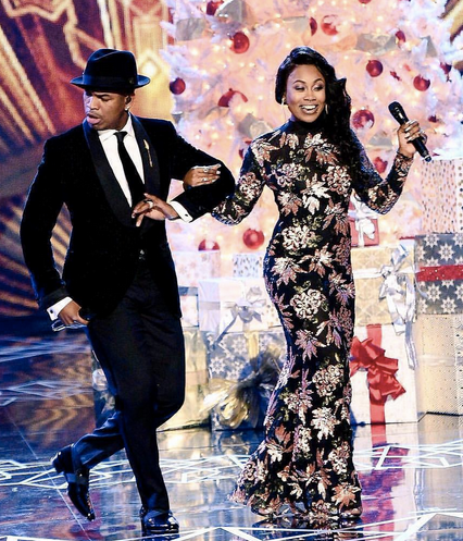 Live on stage with superstar  NE-YO  and the  VH1  star @candiceboyd from  Love and Hip Hop  wearing jewelry from our American designer  Sambac Jewelry  at the Xsmas special on  BET .  Styled by  Icon Billingsley .  Fashion Provided by  #IvanBittonStyleHouse