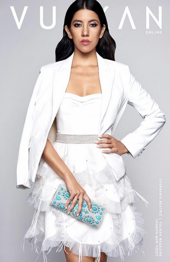 COVER MOMENT!  Vulkan Magazine  cover with   FOX 's star  Stephanie Beatriz  from hit show  Brooklyn Nine-Nine  featuring a clutch from our Italian designer   Ottaviani  . Styled by   Michael Saint Michael  . Fashion Provided by   #IvanBittonStyleHouse