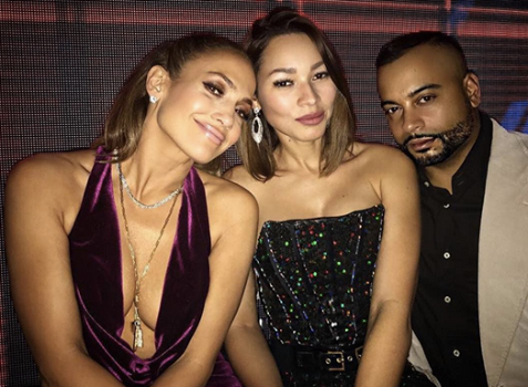 SPOTTED this week end!  Jennifer Lopez  and bestie Power blogger @YisneyTerrero wearing a jumpsuit by our German designer   Marcell von Berlin  and magnificent jewelry by our American designer   Sambac Jewelry  . Styled by   #TeamBitton    Aaron Gomez   Fashion Provided By   #IvanBittonStyleHouse