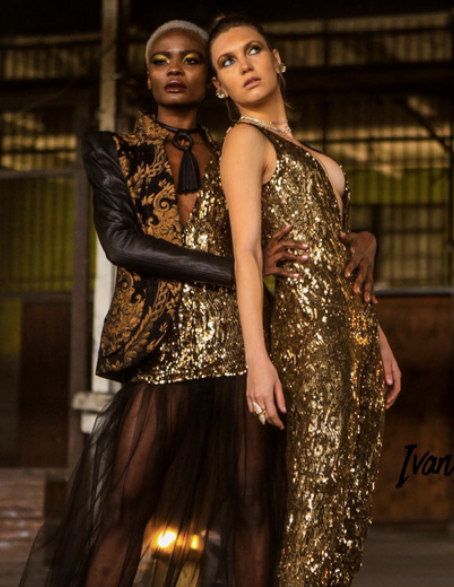 Behind the scenes fashion editorial featuring our Designer from Germany  Anya Liesnik , Our American project runway designer  Laurence Basse , Our American designer  Sambac Jewelry . Styled by  #TeamBitton   LaRay Slay  and  Stephanie Amelie . Fashion Provided by  #IvanBittonStyleHouse
