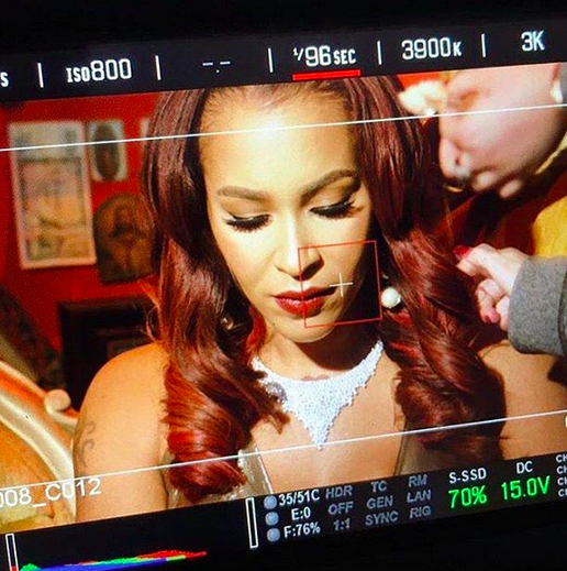Behind the scenes with  VH1  star  Amina Pankey  from  Love and Hip Hop  shooting a Music video featuring our German designer  Anya Liesnik  and Our American designer  Sambac Jewelry . Styled by @freshprincola. Fashion Provided By  #IvanBittonStyleHouse