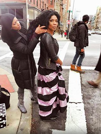 Spotted in Boston!  ABC Television Network  star  Courtney Harrell  from  The Voice  featuring our designer from Hungary @napsugar and our designer from Romania Aamapor . Styled by  #TeamBitton   Aaron Gomez . Fashion Provided by  #IvanBittonStyleHouse