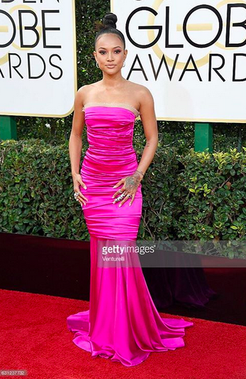BREAKING NEWS! Celebrity Queen  Karrueche Tran  looking Hot with jewelry from our American designer  Sambac Jewelry  at the  Golden Globes  awards 2017 in Beverly Hills. Styled by  Ej King . Fashion Provided by  #IvanBirttonStyleHouse