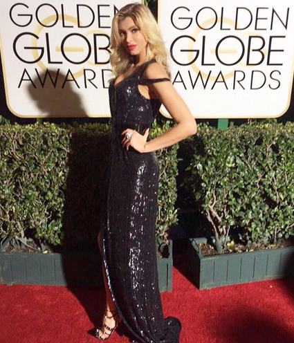 Gorgeous Moment! Supermodel  Anna Sergeevna  looking perfection at the  Golden Globes  in a dress from our German designer  Anya Liesnik  and our American designer  Sambac Jewelry . Styled by  #TeamBitton   Aaron Gomez . Fashion Providede by  #IvanBittonStyleHouse