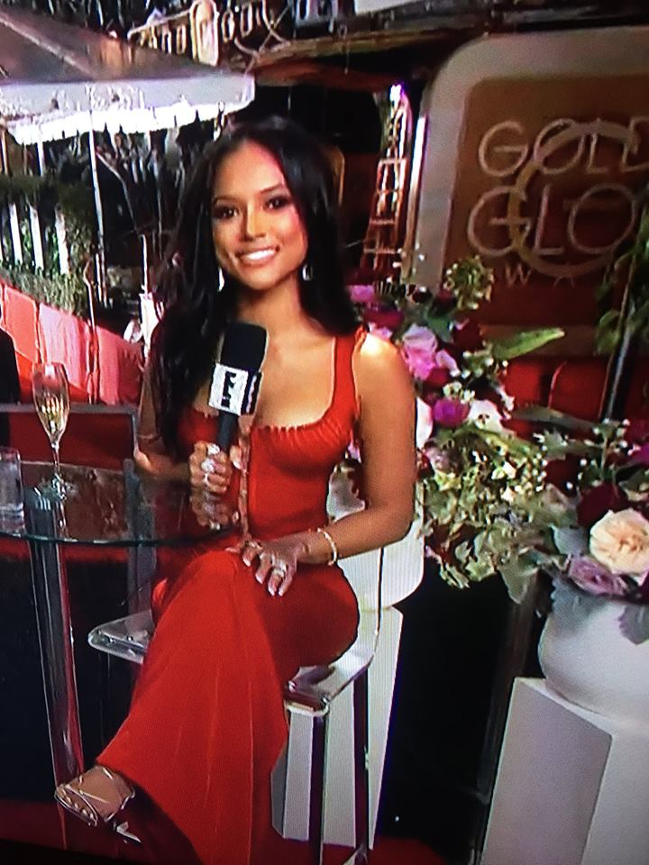 Emmys / Television Academy  winner , the superstar  Karrueche Tran  hosting the after parties at the  Golden Globes  this week end, covered in jewelry by our American designer  Sambac Jewelry . for  E! Entertainment . Styled by  Ej King . Fashion Provided by  #IvanBittonStyleHouse