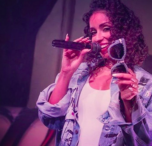 Recording Academy / GRAMMYs  award past winner and upcoming nominee  Miss Mýa  flaunting a pair of our sunglasses by our American designer  Woodworkz Nz . Styled by  AmbiKa Sanjana  Fashion Provided by  #IvanBittonStyleHouse