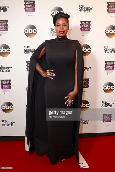 Super star  @tasiasword  #fantasia looks powerful at the  @abcnetwork red carpet wearing our designers ✨ #capedress made by our Designer from Turkey 🇹🇷 @nuofficial for the inauguration of the  @smithsonian museum fashion provided by  #ivanbittonstylehouse styled by  @1800dhawk ⭐️👍🏼 #whatsheiswearing  #pr  #celebrity  #getty  #ok  #styling  #bittonstylehouse  #abc  #dc  #kennedy  #hollywood
