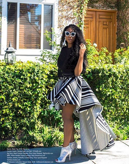 Qeens of pop music  Fifth Harmony 's singer  Normani Kordei - BR  looking amazing for  Regard Magazine  wearing a pair of sunnies from our designer from Hong Kong  Bighorn Rhino . Styled by  AmbiKa Sanjana . Fashion Provided By  #IvanBittonStyleHouse