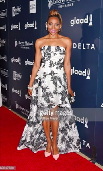 Glamorous at the GLAAD Awards red carpet with actress  @theericaash  wearing our Designers ✨ #dress  &  #jewelry  made by our American designers 🇺🇸  @nicolebakti  &  @sambacjewelry   #clutch  made by our designer from Italy 🇮🇹  @ottavianiofficial fashion provided by  #ivanbittonstylehouse styled by celebrity stylist  @tgatiffanystylist  #whatsheiswearing  #hollywoodtrend  #ootd  #bittonstyle  #hollywoodtrend  #magazine  #tmz  #blogger  #getthelook  #actress  #ash  #redcarpet  #bittonstyle  #hilton