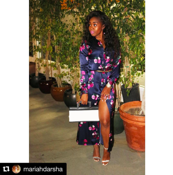 @hollywoodunlocked tv & radio presenter   @mariahdarsha  giving us a chic hello before interview all the celebs for a hollywood event Styled By  @_Styledbykey  Fashion provided by  #IvanBittonStyleHouse   #dress  made by our designer  @Scamerondavies   #bag  made by our designer  @pikagos   #whatsheiswearing  #TVHost   #MariahDarsha  #HollywoodUnlocked   #DressToImpress  #Model   #Melrose   #Media  #HighlightPoppin  #ootd  #redcarpet  #hollywoodtrend  #celebritystyle  #blogger