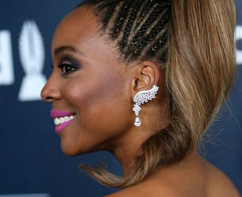 The gorgeous actress  Erica Ash  from  Scary Movie wearing earrings by our American designer  Sambac Jewelry  while Red carpeting in Hollywood this week end. Styled by  Tiffany Scott-Clemente . Fashion provided by  #IvanBittonStyleHouse