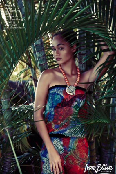 Summer time ☀️ colorful fashion editorial showcasing our fabulous designers ✨ #jumpsuit  made by  @valdazur   #neckless  made by  @adriaticjewels   #top  made by  @shanswimwear  fashion provided by  #ivanbittonstylehouse  photo by.  @sidranephoto  model  @nativalaw  #whatsheiswearing  #style  #hawaii  #hollywoodtrend  #bittonstyle  #magazine  #editorial  #summer  #ootd  #hollywoodtrend  #ok  #us  #celebritystylist  #designers