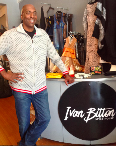 Incredible time with basketball 🏀 legend  @johnsalley  in the house wearing our designers ✨ #sweaterjacket  made by our designer from Denmark 🇩🇰  #north56 -4 on his way to record a new episode of  @basketballwives  fashion provided by  #ivanbittonstylehouse  styles by  #teambitton   @lundynellerose