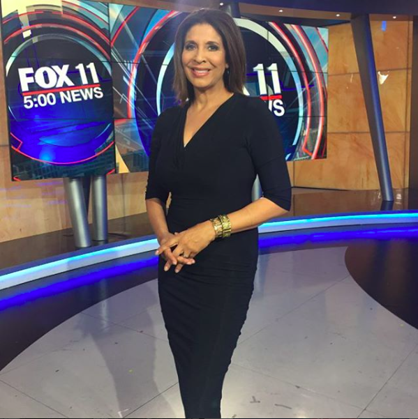@foxla  Iconic anchor  @christinedevineofficial  wearing a dress from our French designer  @alexia_klein  Fashion Provided by   #ivanbittonstylehouse
