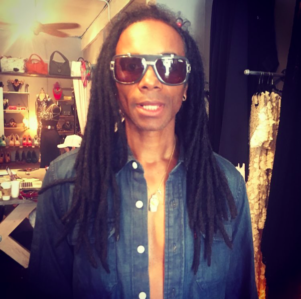 @fabmorvan  from legendary band  #millivanilli  in the house! Wearing a pair of sunnies from our German designer  @cazal_official  on a way to a very important shoot😉 Fashion Provided by  #ivanbittonstylehouse