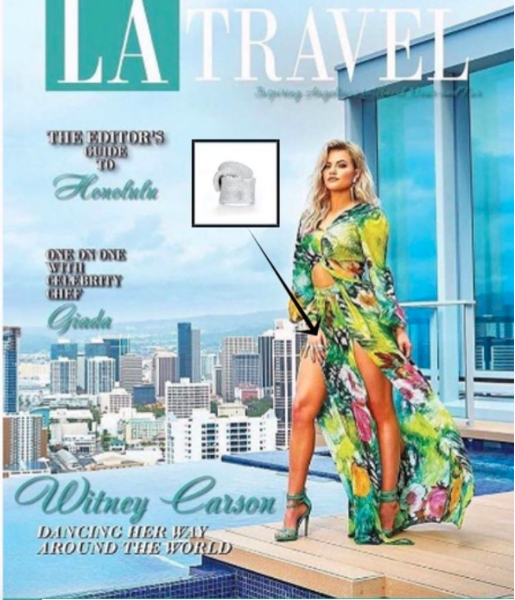 Cover alert! Dancing with the stars  @dancingabc  @witneycarson  graces the cover of  @latravelmagazine  wearing a ring from our American designer  @sambacjewelry  . Styled by  #TeamBitton   @vstruck  .Fashion Provided by  #ivanbittonstylehouse