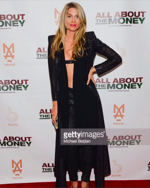 Media personality  @iamrachelmccord  arrives at the  #allaboutthemoney  premiere in a cape from our Barbados designer  @sgshannagall  a Paire of pants by our French designer  @alexia_klein  and a mini belt/bra by our German designer  @anyaliesnik  Styled by  #teambitton   @aarongomezp  Fashion Provided by  #ivanbittonstylehouse