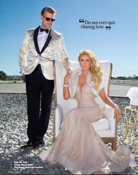 @bravotv  stars ⭐️️ from  @rhocbravo   @gretchenrossi  & husband  @slade.tv  looking Regal gracing the pages of  @amaremagazine  wearing our designers ✨  @nicolebakti   @anyaliesnik  @barabas_men   @napsvgar   @sambacjewelry styled by  @leisastylediva  fashion provided by  #ivanbittonstylehouse  #ootd  #celebrity  #bravo  #rhoc #