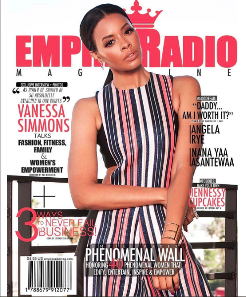 Hollywood royalty star ⭐️  @vanessajsimmons  looking dashing for the Cover of  @empireradiomag  wearing our designers ✨ #jumpsuit  made by our designer from Germany 🇩🇪  @marcellvonberlin  styled by  @eburnsprepjerks  fashion provided by  #ivanbittonstylehouse  #ootd  #style  #fashiondesigner  #simons  #tvshow  #celebrity  #fashion  #magazine
