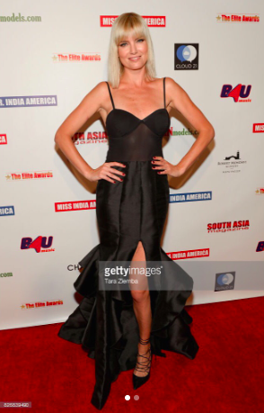 Actress/super model  @eugeniakuzmina  looking super glam at the Elite Awards red carpet wearing our designers ✨  @nicolebakti  fashion provided by  #ivanbittonstylehouse  #ootd  #style  #fashiondesigner  #celebrity  #modelmoms