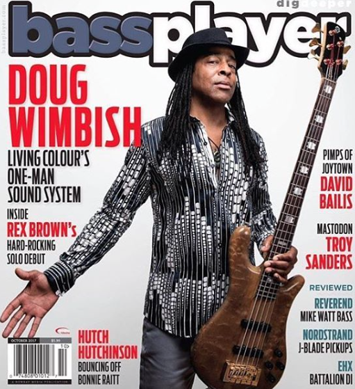 Cover Alert!  @dougwimbish  from legendary band  @livingcolourofficial  gracing the cover of  @bassplayermag  wearing our designer  @barabas_men  Fashion Provided by  #ivanbittonstylehouse