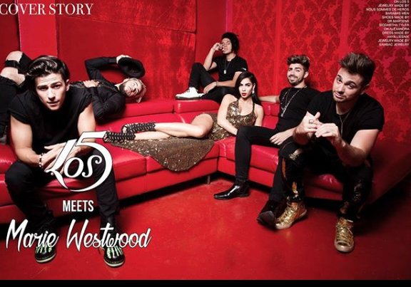 Stunning cover fashion editorial Done for  @mwmagofficial starring pop band  @los5music  &  @alexandraelizabth  wearing our designers ✨  @anyaliesnik   @drmartensofficial  @barabas_men   @nous_sommes_des_heros  @sambacjewelry