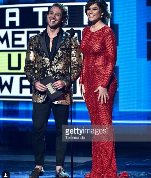Happy times at the  @latinamas  with Latin star  @lambgarcia  &  @angelicacelaya  on stage wearing our designers  @barabas_men  styled by  @bridgettedenise  fashion provided by  #ivanbittonstylehouse  #fashiondesigners  #style  #celebrity  #latinamericanmusicawards   Delete Comment