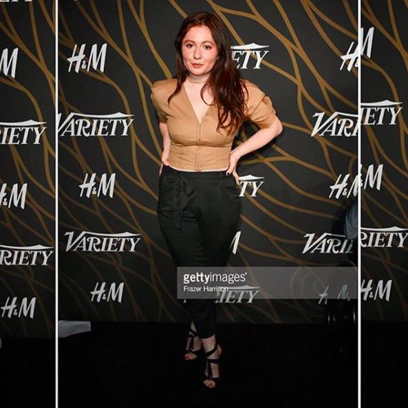 ivanbittonstylehouse Spotted!  @netflix  star  @emmarosekenney  from  #1  American TV show  @shameless  wearing a pair of shoes by our Portuguese designer  @egidio_alves_luxury_shoes  while at the  @variety  pre  @goldenglobes  party in Hollywood. Styled by  @michaelstmichael Fashion provided by  #ivanbittonstylehouse