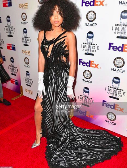 ivanbittonstylehouse American super star  @lilmama  strikes the  @naacpimageawards red carpet looking next level gorgeous! wearing our high fashion designers ✨ Haute Couture creation made by our designers from Paris  @hayariparis  shoes made by our designer from Japan  @limit.till.2359  styled by  @tyrenredd  fashion provided by  #ivanbittonstylehouse