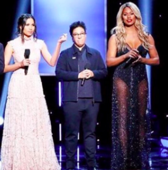 ivanbittonstylehouse 'Orange is the new black'  @oitnb  and  @time  magazine cover superstar  @lavernecox  presenting at the  @naacpimageawards  wearing a gown by our Croatian designer  @matijavuica  Styled by  @christinajpacelli  Fashion provided by  #ivanbittonstylehouse   Delete Comment