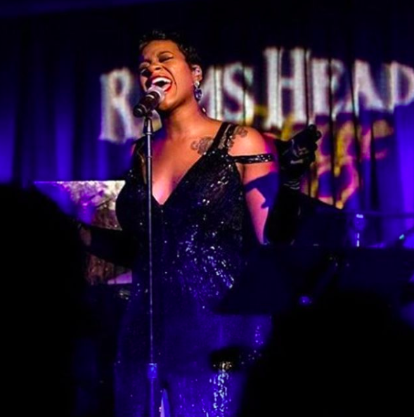 ivanbittonstylehouse American superstar Fantasia  @tasiasword  giving it all while on tour wearing a dress by our German designer  @anyaliesnik  Styled by  @1800dhawk  Fashion provided by  #ivanbittonstylehouse