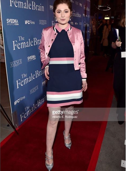 Star from award winner tv show  @shameless   @emmakenney strained the female brain movie premiere red carpet in Los Angeles wearing our designers  @limit.till.2359  shoes  @rougebyroojamir  jewelry styled by  @michaelstmichael  fashion provided by  #ivanbittonstylehouse  #fashion  #celebrity  #redcarpet