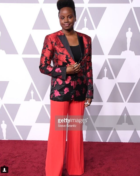 History made! The first female director to be nominated at the Oscars for her movie  @mudbound   #Deerees looking stunning wearing our designer from Japan  @rynshu  couture jacket styled by  @zerinaakers  for the annual  @theoscarsofficial  luncheon in Beverly Hills fashion provided by  #ivanbittonstylehouse  #celebrity  #style  #fashiondesigners