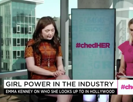 ivanbittonstylehouse  @Netflix  Star  @emmakenney  from  #1  hit show  @shameless  and upcoming  @roseanneonabc  reboot talking about women empowerment on  @cheddar  wearing our gorgeous designers ✨ jewelry @luvmyjewelry  styled by  @michaelstmichael fashion provided by  #ivanbittonstylehouse