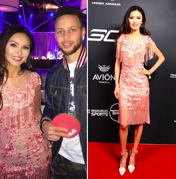 ivanbittonstylehouse Spotted!  @nba superstar  @stephencurry30  out and about with the gorgeous World champion tennis table and tv personality  @pingponggirl wearing a dress by our Canadian designer  @_narces  , shoes by our designer  @ialave_shoes  and jewelry by our collection  @sambacjewelry  Styled by  #teambitton  @maebedaillest  Fashion provided by  #ivanbittonstylehouse