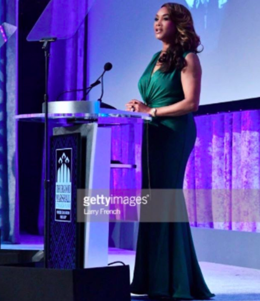 ivanbittonstylehouse The amazing American actress Vivica Fox  @msvfox  from hit show  @empire  wearing a dress by our designer  @evamejl  as she is presenting an award in Washington DC  #tmcfgala  styled by  @abjcoleman  Fashion provided by  #ivanbittonstylehouse